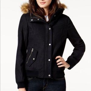 Levi's Faux-Fur-Trim Hooded Jacket
